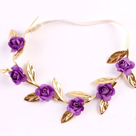 Roses Headband Purple