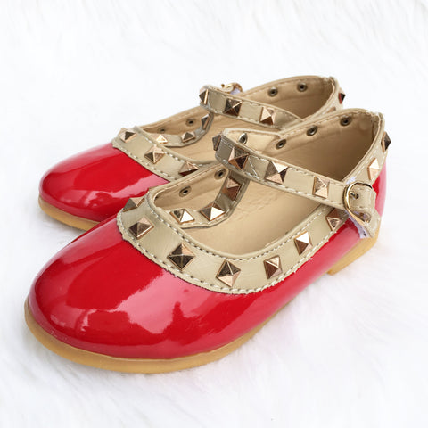 Zara Stud Shoes Red