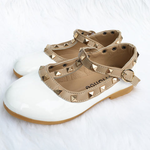 Zara Stud Shoes White
