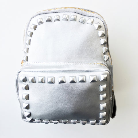Stud Backpack Silver