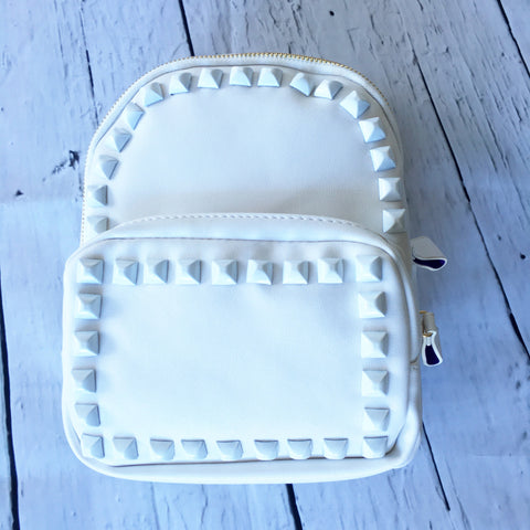 Stud Backpack White