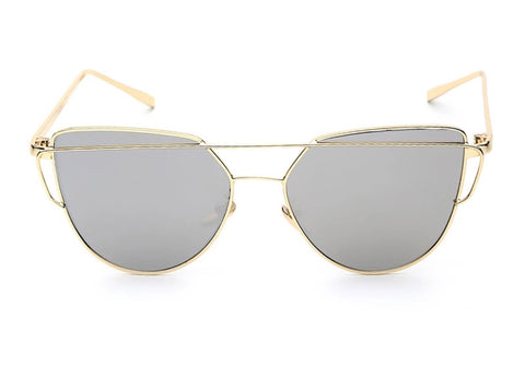 BELLA Sunglasses Gray Lens + Gold Frame