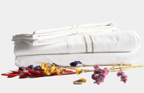 White embroidered bed linen