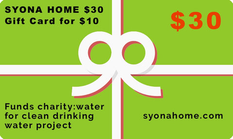 Syona Home $30 Gift Card for $10