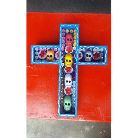 Authentic Mexican Day of the Dead Skull Cross