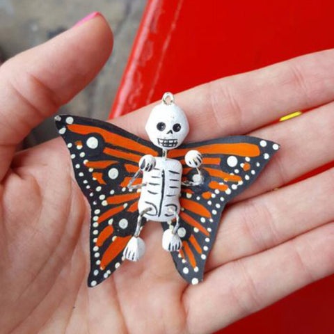 Artisanal Mexican Day of the Dead Butterfly Ornament