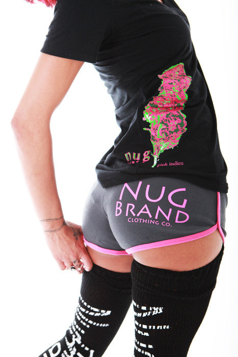 "Nugbrand Strains ""Pink Indica"" V-Neck"