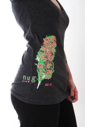 "Nugbrand Strains ""AK-47"" V-Neck"