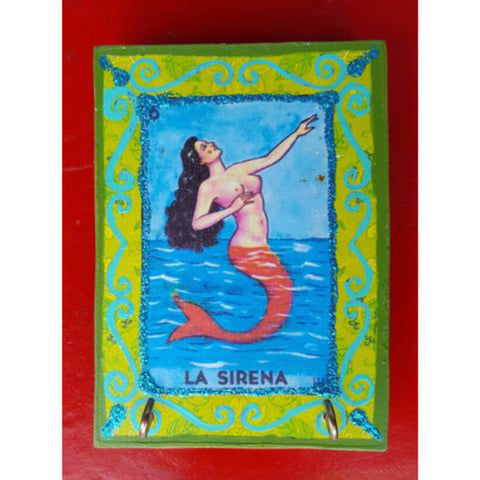 "Authentic Mexican ""La Sirena"" Wooden Block"