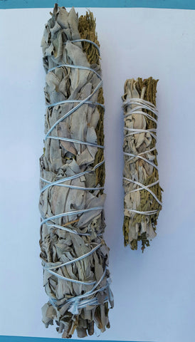 White Sage With Cedar Smudge Sticks