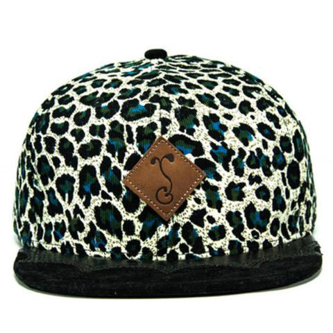 Grassroots California Blue Wingtip Cheetah Fitted