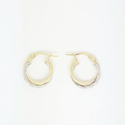 9ct Yellow Gold Earring 34023