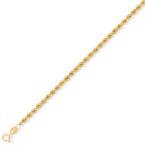 "9ct gold 18""/46cm rope chain 11113"