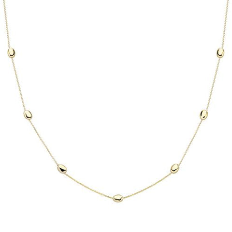 "9ct gold coffee bean style necklet, 18""/46cm,  4.6  gram approx 32871"