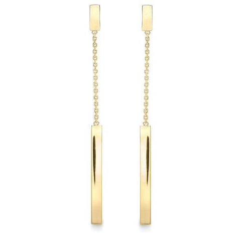 9ct Yellow Gold Earring, 9ct yellow gold drop earring 32179 - Armin Lowe Jewellers Sligo