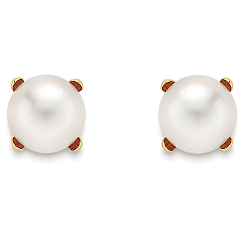 9ct Yellow Gold Pearl freshwater cultured Ladys Earring 33342 - Armin Lowe Jewellers Sligo