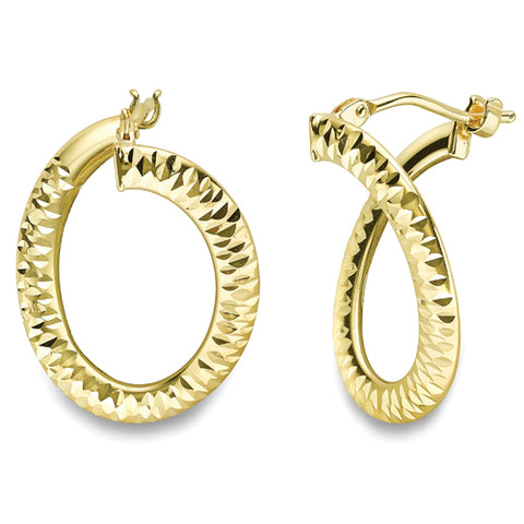 9ct Yellow Gold Earring 32899