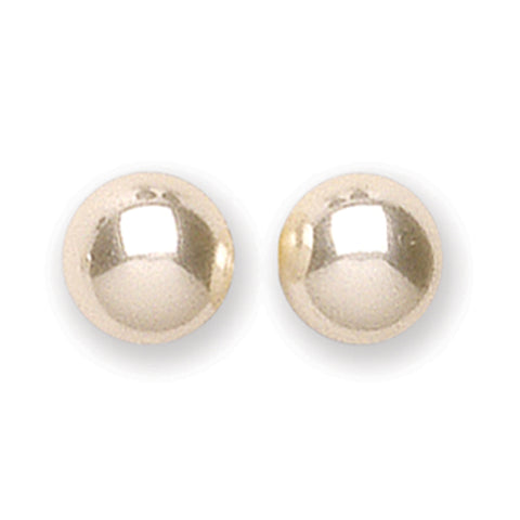 Sterling silver stud earrings with 6mm imitation pearl 4756