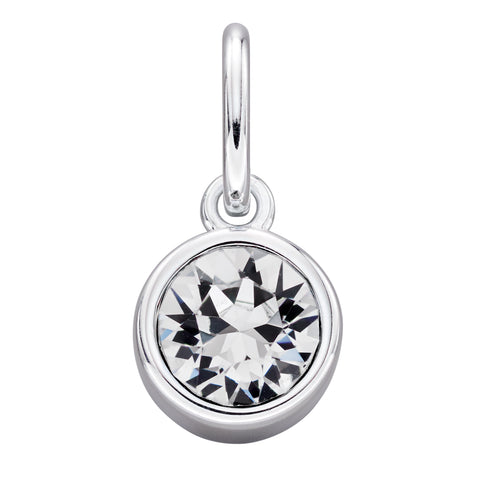 April Swarovski birthstone hanger - add to a bracelet or pendant, can be worn simply on a chain 34202