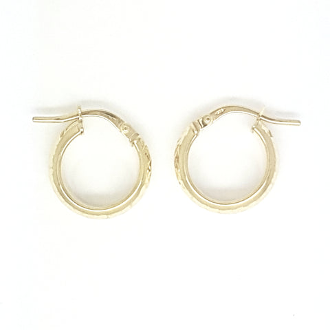 9ct Yellow Gold Earring 34022