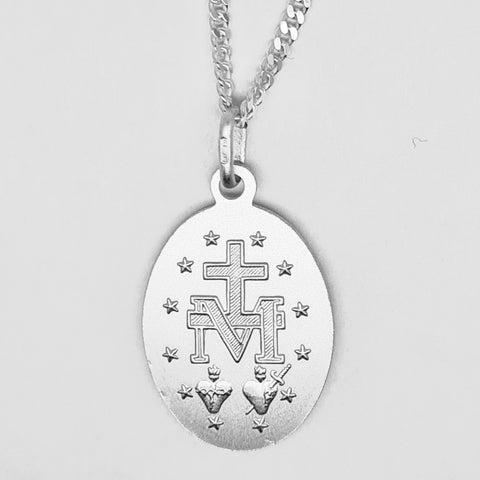 Sterling silver 20mm miraculous medal 34228