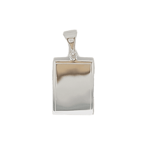 Book locket with engraving detail in sterling silver 34012