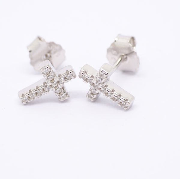 Sterling Silver CZ Girls Earring 33903