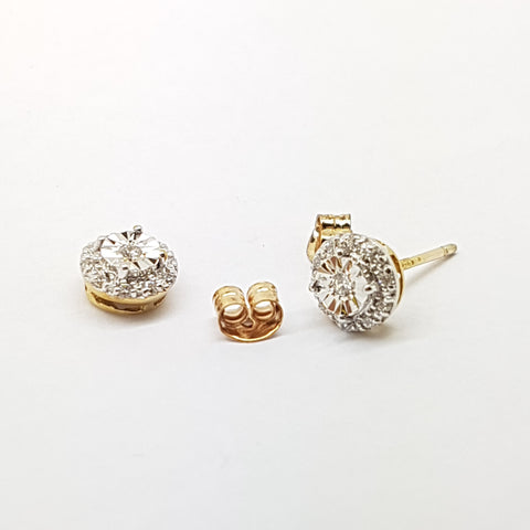 9ct Yellow Gold Earring 34046