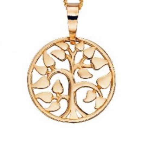 9ct yellow gold Tree of Life pendant only 33888