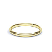 9ct Yellow Gold 2mm court wedding band