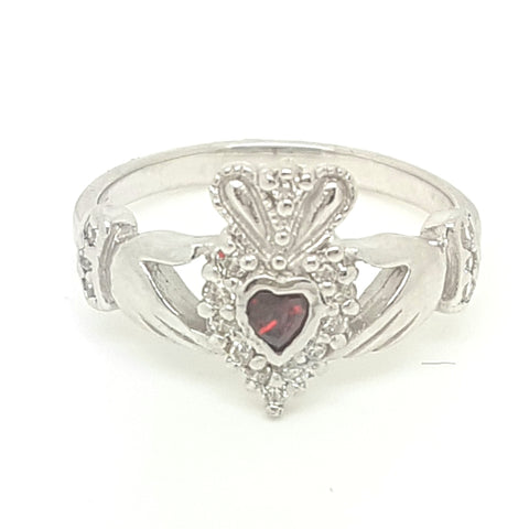 Sterling Silver CZ Ladys Ring 33377