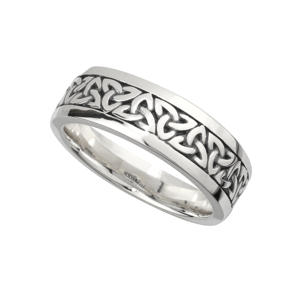 Celtic Trinity knot, band ring 25017