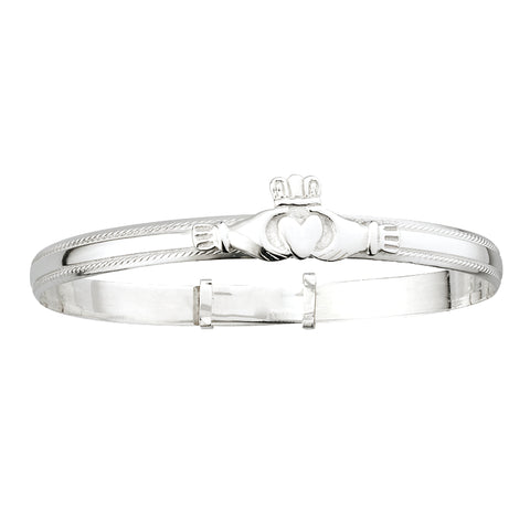 Ladys Sterling Silver Bangle 26631