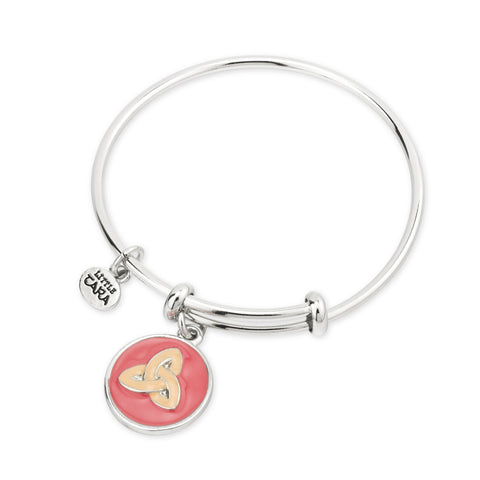 Expanding bangle with Celtic Trinity knot disc charm 32708