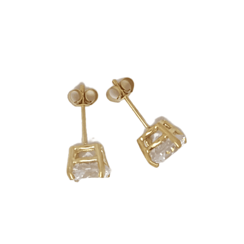 9ct Yellow Gold CZ Unisex Earring 34003