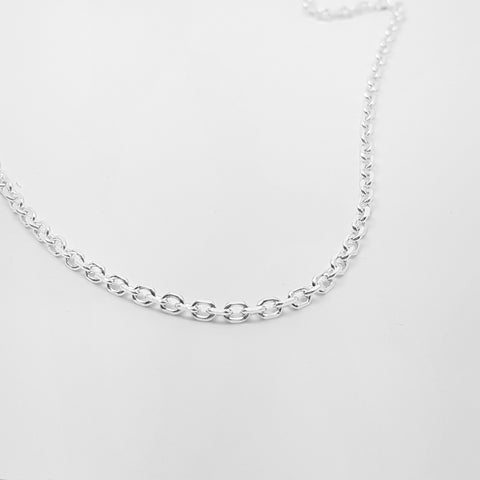 "Sterling silver 20""/51cm diamond cut cable chain,3mm width, suitable for pendants 27480"