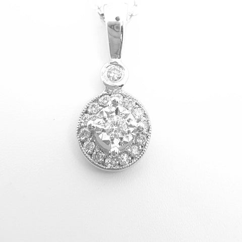 9ct White Gold Pendant 32284 - Armin Lowe Jewellers Sligo