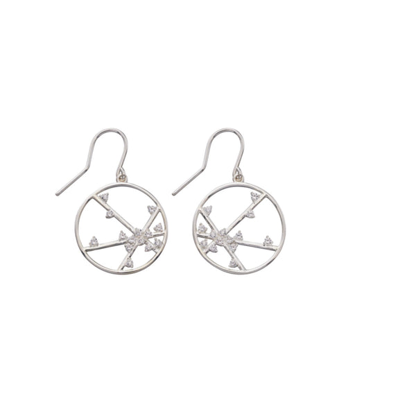 Sterling Silver CZ Ladys Earring 32043