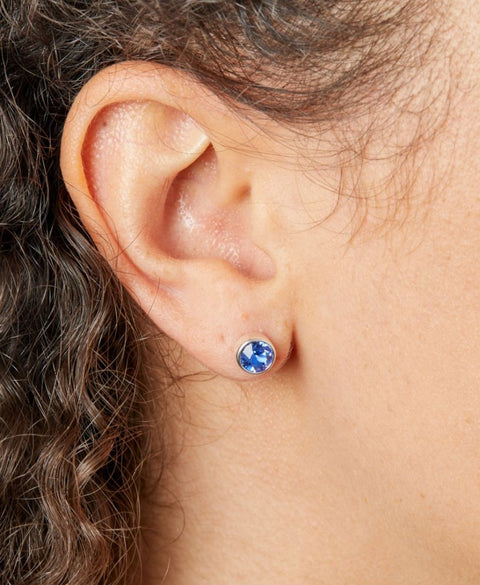 Sterling Silver SWAROVSKI birthstone stud Unisex Earring 32739 SEPTEMBER