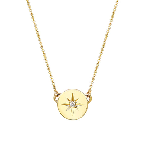 Follow your Star 9ct Yellow Gold Pendant 34154