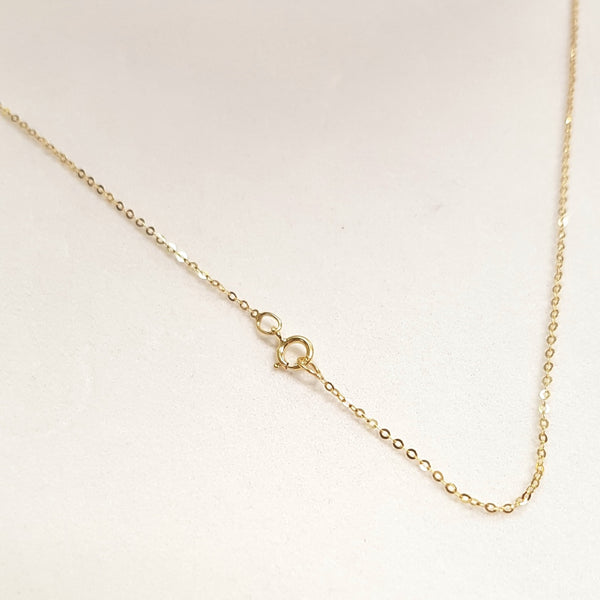 "9ct Yellow Gold Chain, 9ct gold 18""/46cm trace chain for pendant 32115"