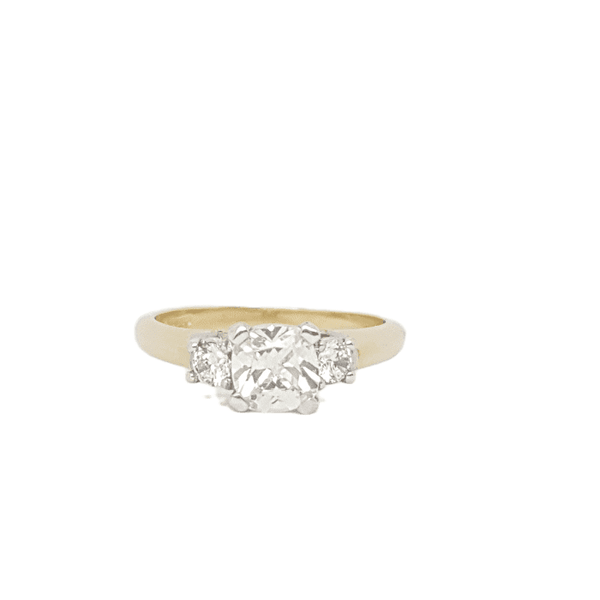 9ct Yellow Gold CZ Ladys Ring 33999