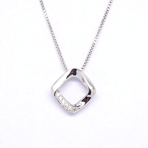 Open lozenge ribbon pendant 34113