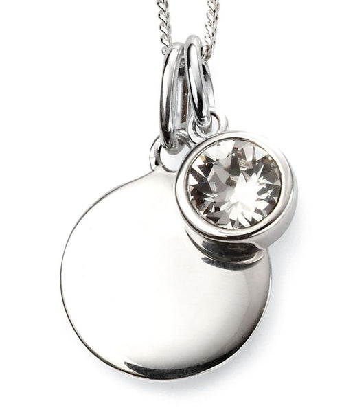 Sterling Silver April birthstone Pendant 32722