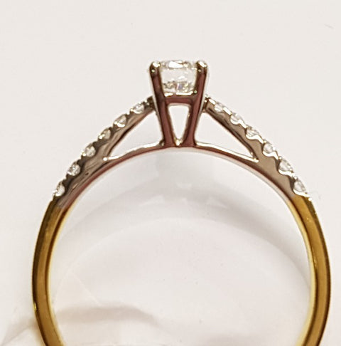 18ct Gold Solitaire Ring 19170