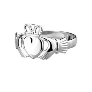 Sterling Silver Ring, Sterling Silver Ladies' Standard Claddagh 25048
