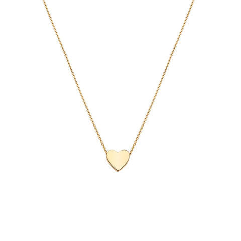 "Tiny heart 18"" chain 9ct Yellow Gold Pendant 34170"