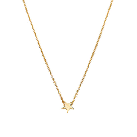 Tiny Star 9ct gold slider pendant 34171