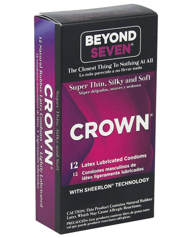 Crown Lubricated Condoms - Box Of