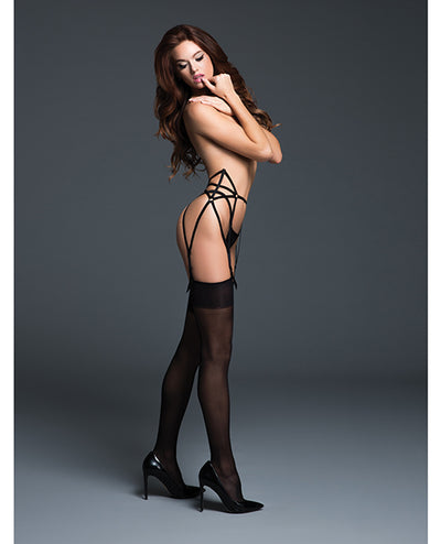 Adore The Audaciously Sexy Garter W/adjustable Straps Black